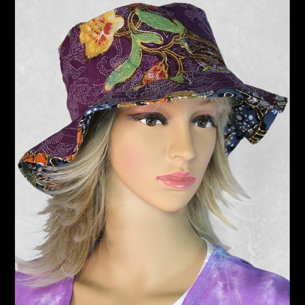 Batik Sun Hats-Bags & Accessories-Peaceful People