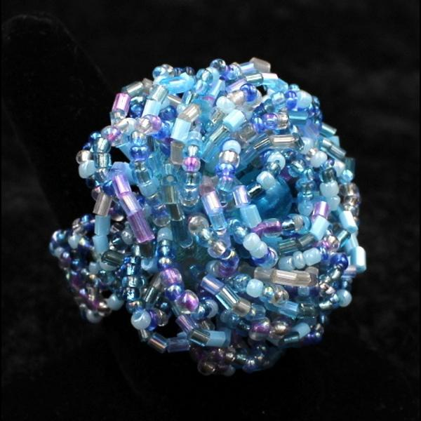 50 Beaded Flower Rings ($0.35 each)-Bracelets & Jewelry-Peaceful People
