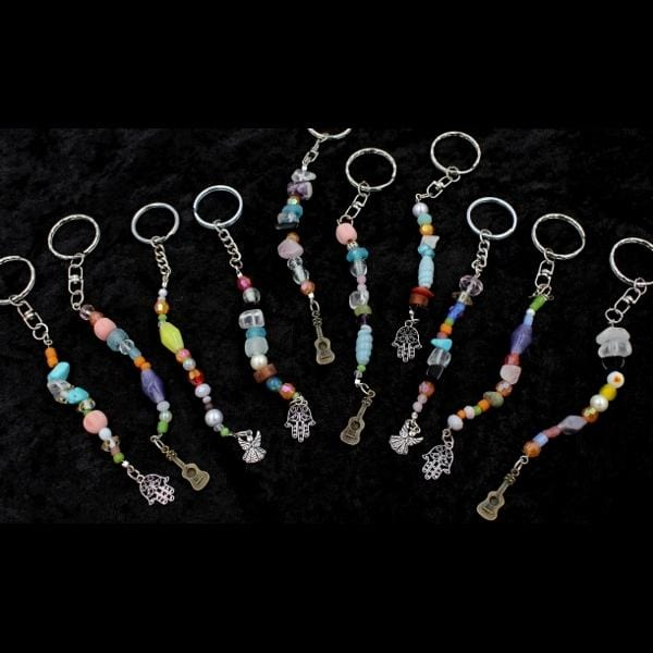 Beaded Key Rings-Handicrafts-Peaceful People
