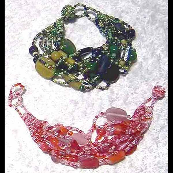 12 Art Glass 2 Bracelets ($1.50 each)-Bracelets & Jewelry-Peaceful People