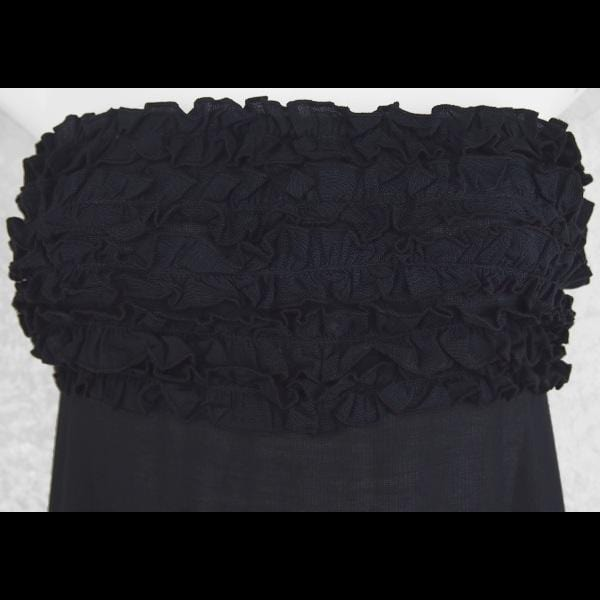 Black Frilly Sarong Dress-Dresses-Peaceful People