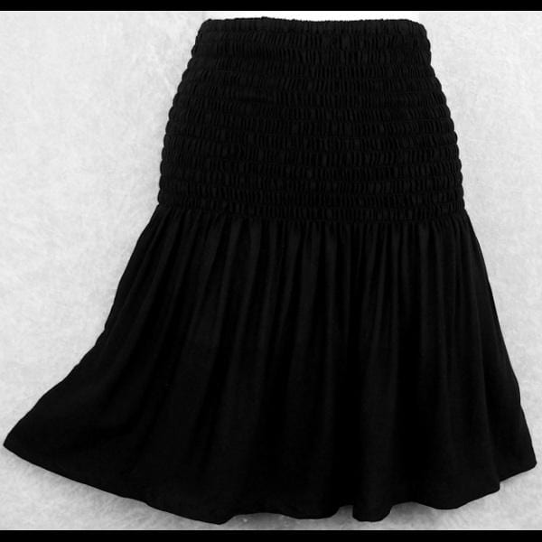 Black Baby Doll Convertible Top/Skirt-Tops-Peaceful People