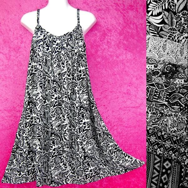 Alexandra's Black and White Dress-Dresses-Peaceful People
