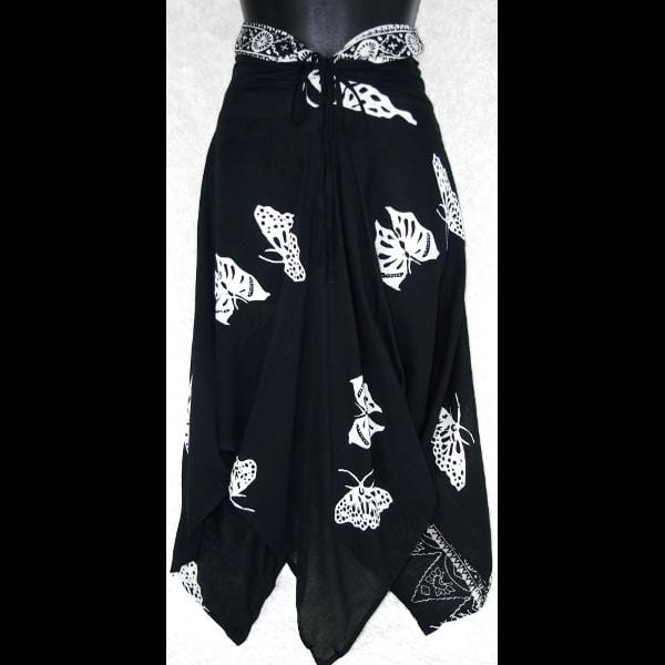 Black and White Convertible Top/Skirt-Tops-Peaceful People