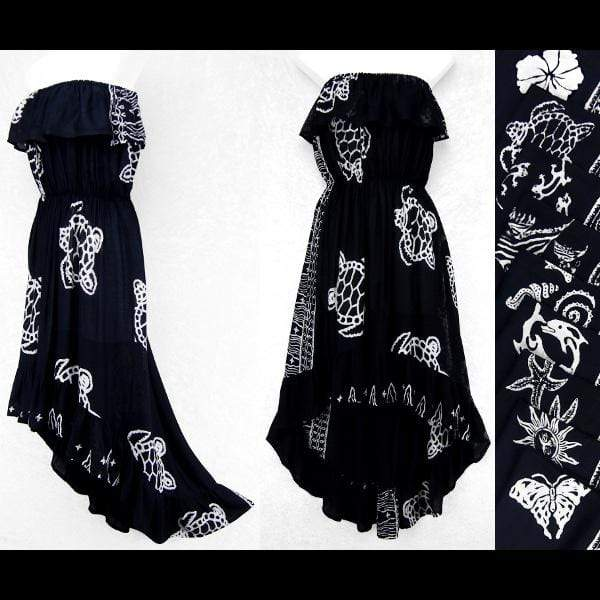 Batik Black and White Flamenco Dress-Dresses-Peaceful People