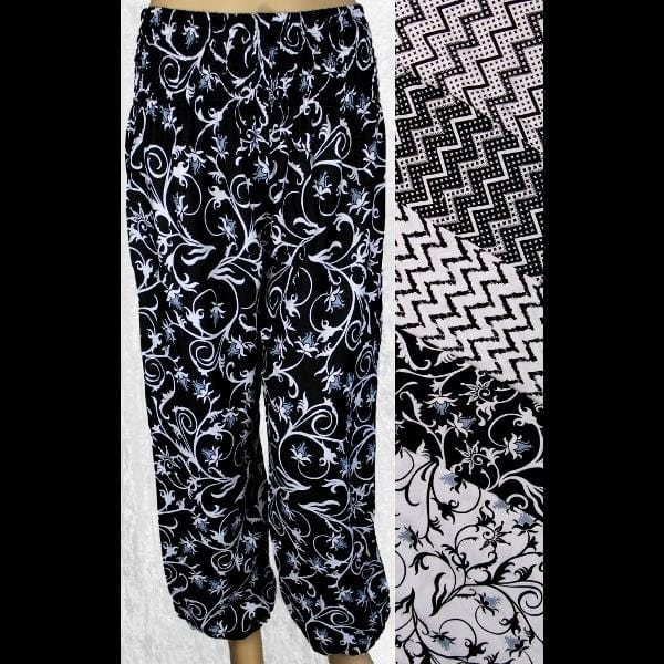 Black and White Lounge Pants-Pants-Peaceful People