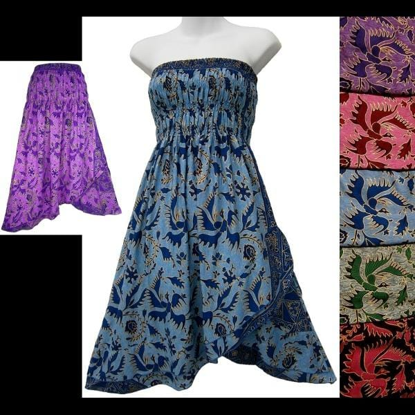 Prisha's Batik Convertible Dress/Skirt-Dresses-Peaceful People