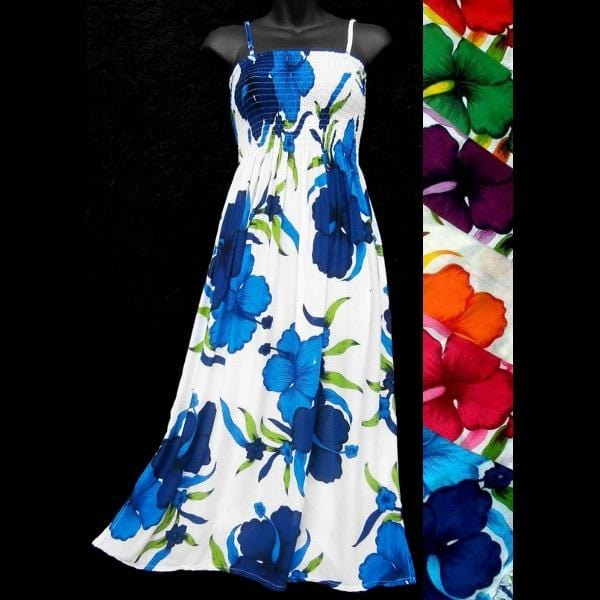 Bright Flower Sarong Dress-Dresses-Peaceful People