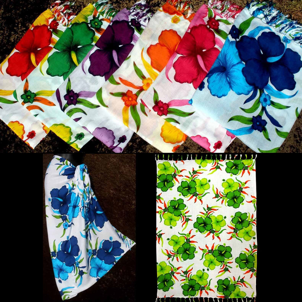 Bright Flower Sarongs-Sarongs-Peaceful People