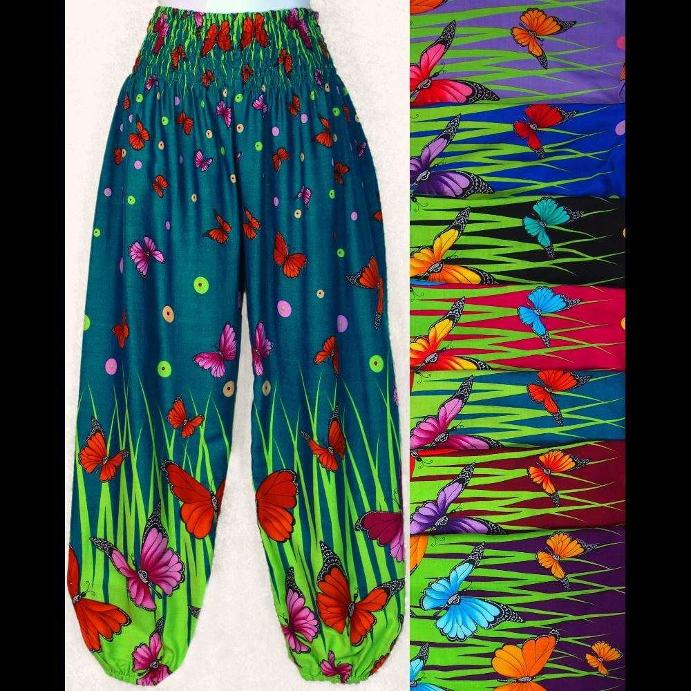 Butterfly Lounge Pants-Pants-Peaceful People