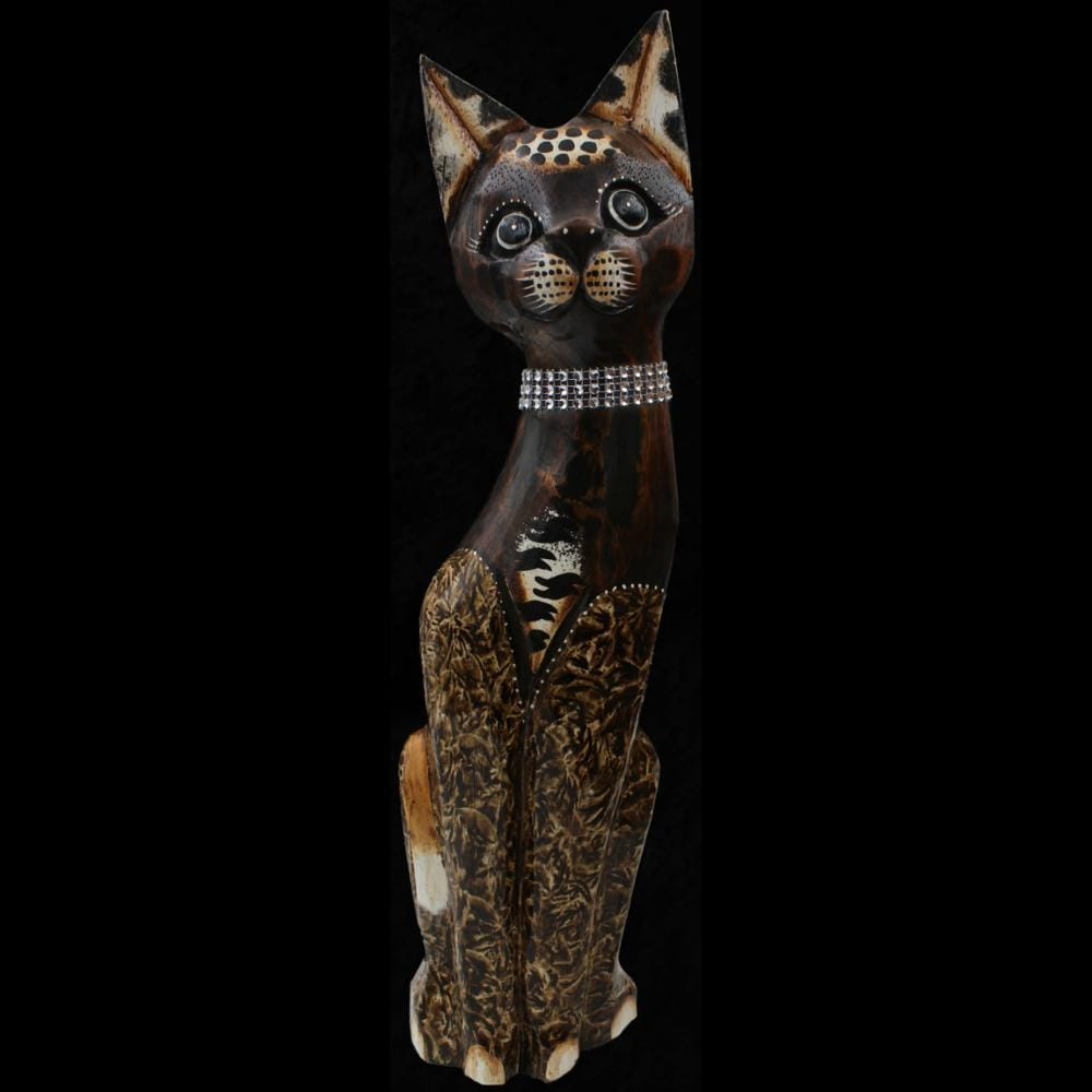 Stylish Cat Carving-Handicrafts-Peaceful People