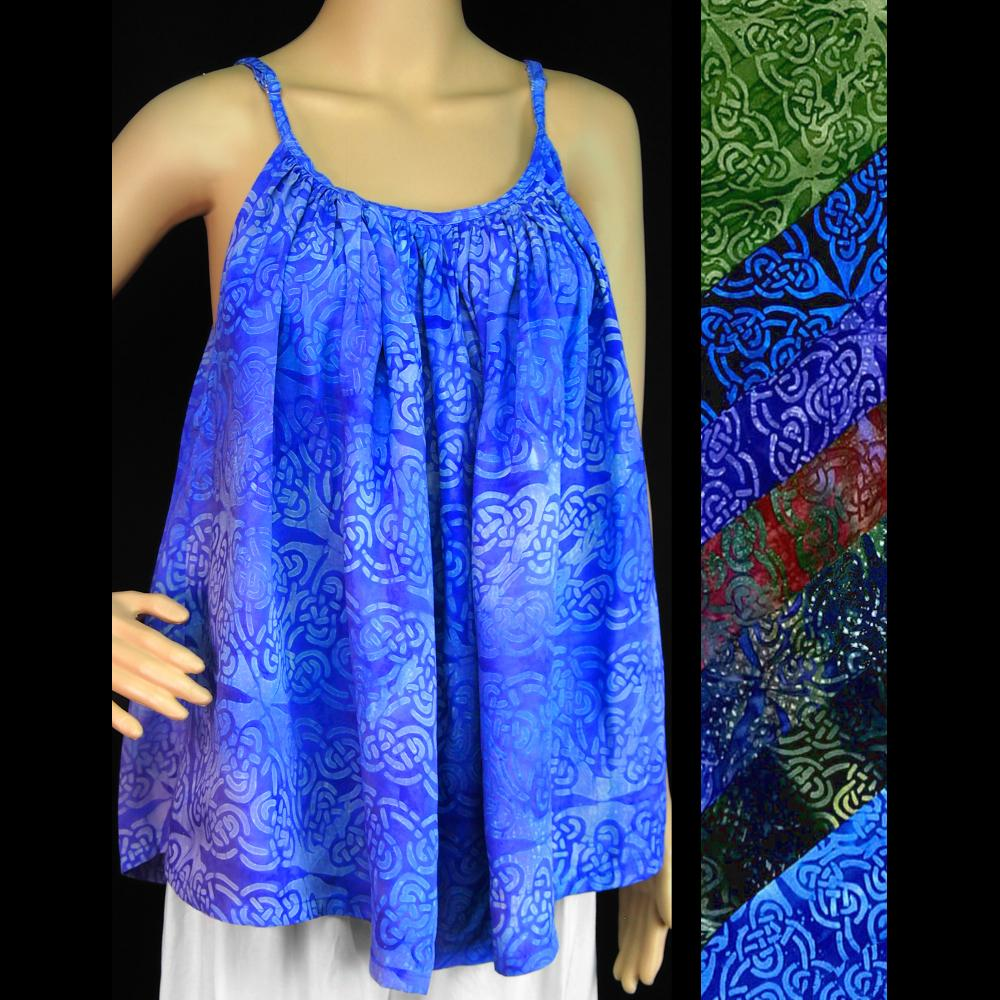 Celtic Premium Batik Cami Top-Tops-Peaceful People