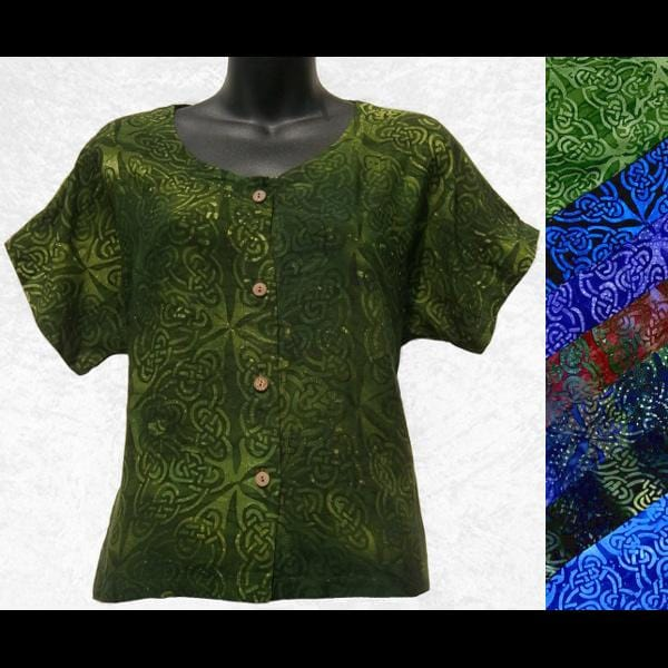 Celtic Batik Summer Top-Tops-Peaceful People