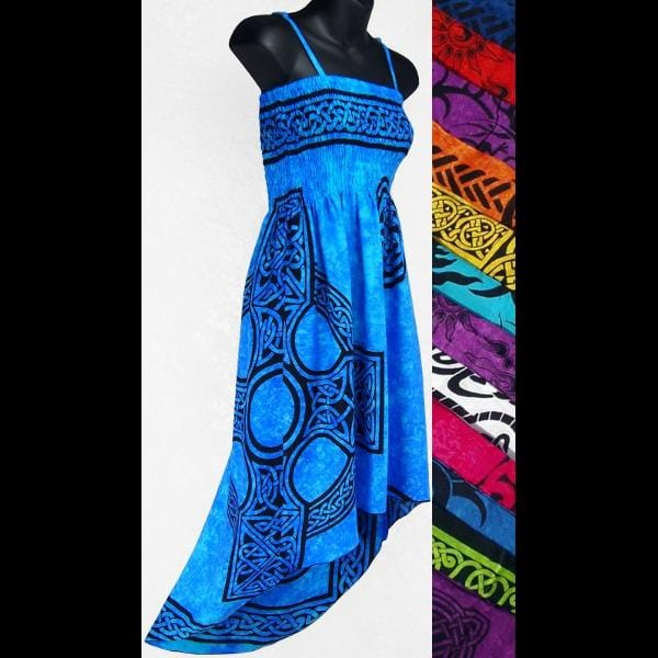 Celtic Hi-Lo Dress-Dresses-Peaceful People
