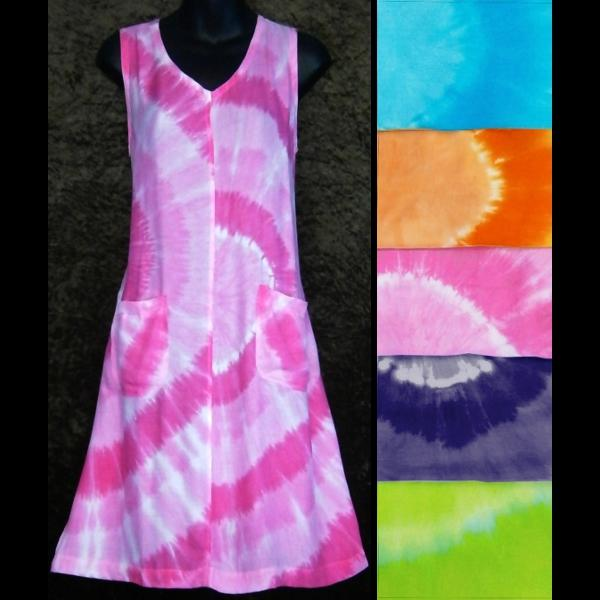 Tie-Dye Circle Pocket Dress-Dresses-Peaceful People