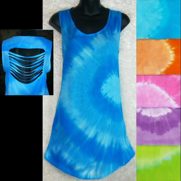 Tie-Dye Circle Shred Long Top-Tops-Peaceful People