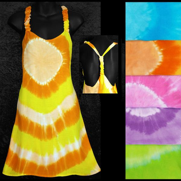 Tie-Dye Circle Adjustable Dress-Dresses-Peaceful People