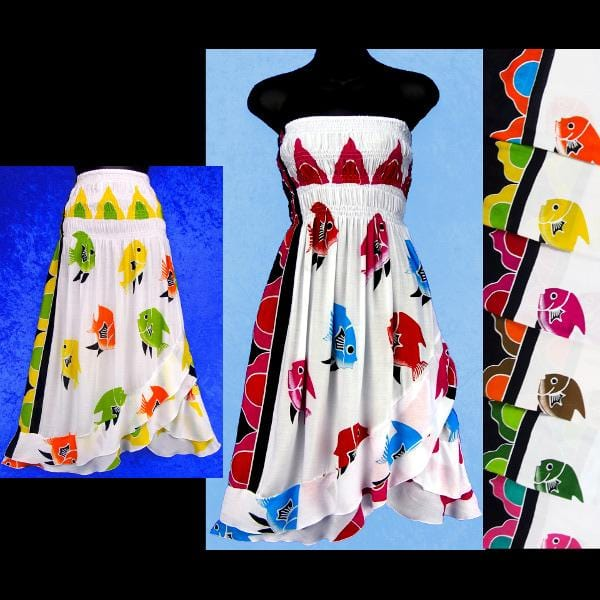 Fish Convertible Dress/Skirt-Dresses-Peaceful People