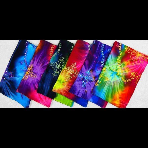 Cosmic Tie-Dye Embroidered Sarongs-Sarongs-Peaceful People