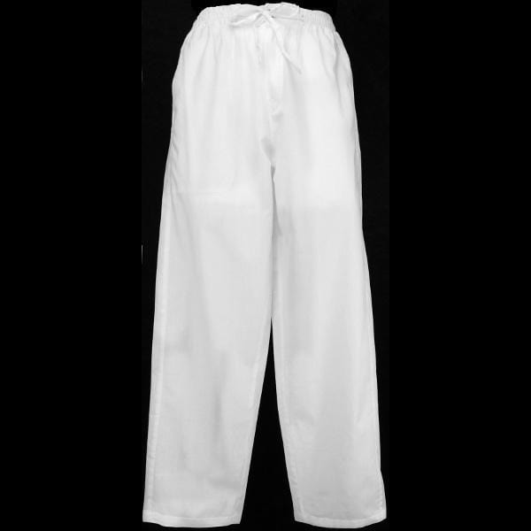 Cotton White Long Pants-Pants-Peaceful People