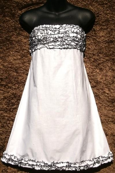 Brianna's Black and White Cotton Dress-Special Deals (reduced prices)-Peaceful People