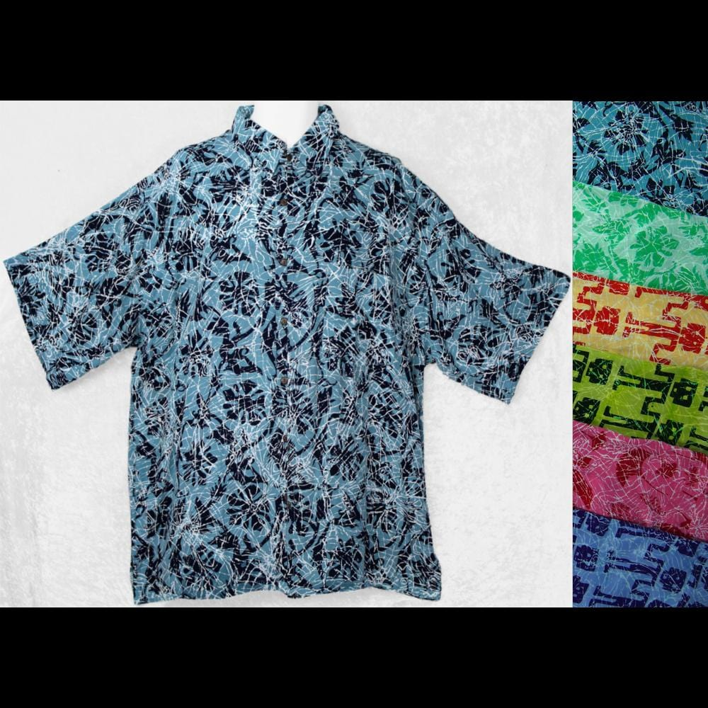 Crackle Batik Shirt-Shirts-Peaceful People
