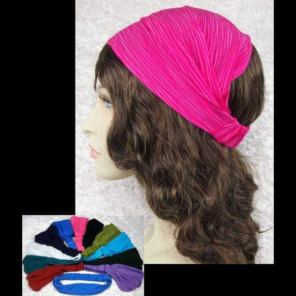 12 Crinkle Elastic Bandana-Headbands ( 1.90 each)-Crinkle Clothing-Peaceful  People bbeeeaf0d68