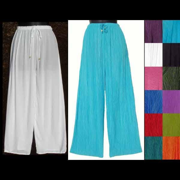 Crinkle Long Pants-Pants-Peaceful People