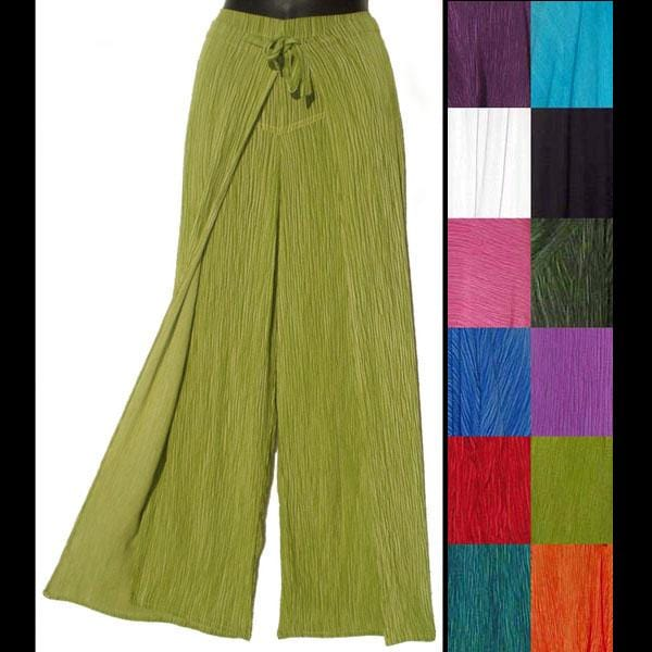 Crinkle Wrap Pants-Pants-Peaceful People