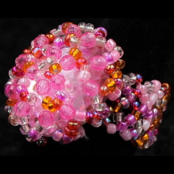 50 Beaded Rings Crystal ($0.35 each)-Bracelets & Jewelry-Peaceful People