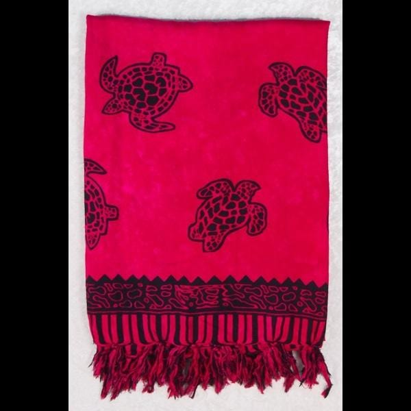 Sea Turtle Sarongs - Dark Pink-Special Deals (reduced prices)-Peaceful People