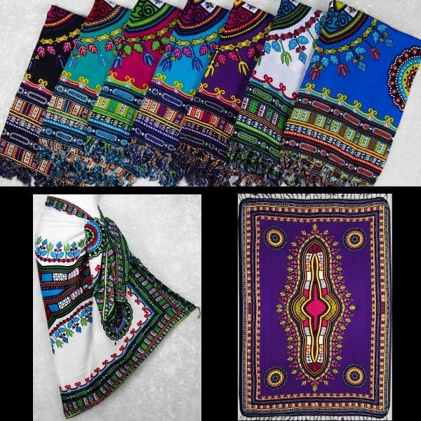 Dashiki Sarongs-Sarongs-Peaceful People