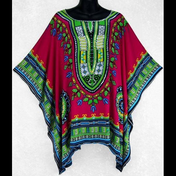 Dashiki Print Pullover Shirt with Sequins-Tops-Peaceful People