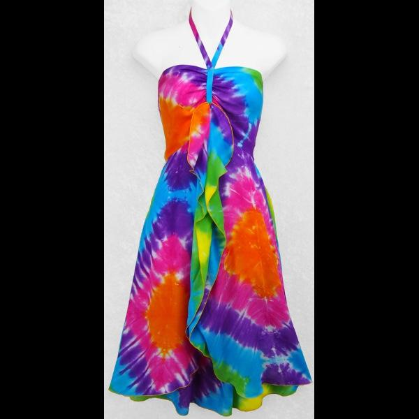 Diamond Tie-Dye Gigi Dress-Dresses-Peaceful People