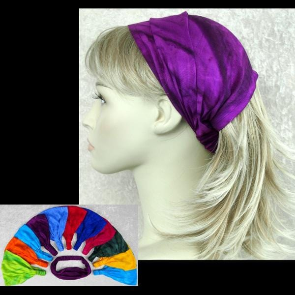 12 Fizzy Elastic Bandana-Headbands ($1.60 each)-Bags & Accessories-Peaceful People
