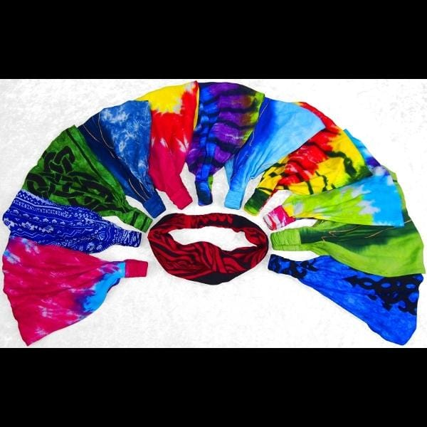 12 Elastic Bandana-Headbands Potpourri ($1.60 each)-Bags & Accessories-Peaceful People