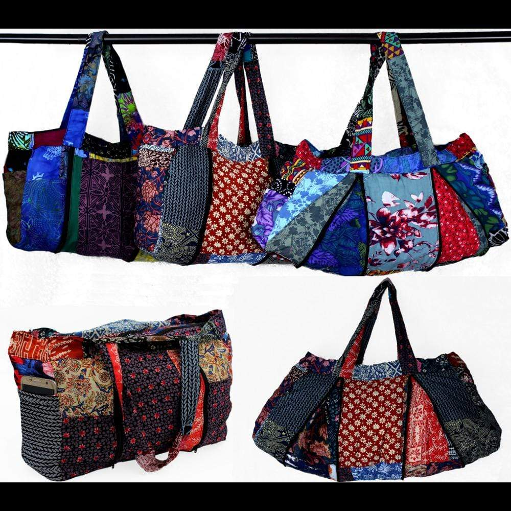 Patchwork Expandable Zipper Bag-Bags & Accessories-Peaceful People