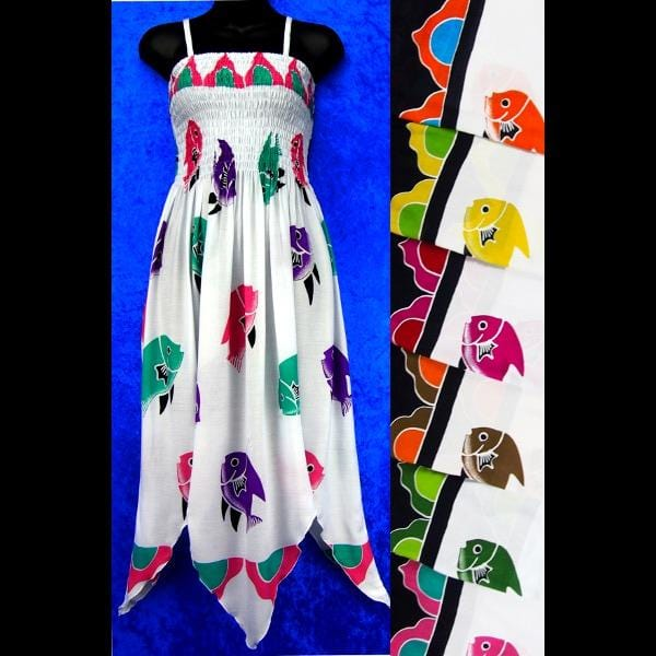 Fish Fairy Sarong Dress-Dresses-Peaceful People