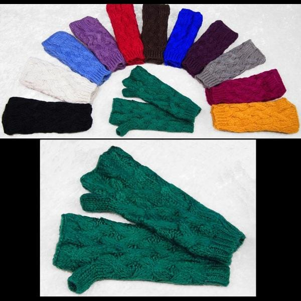 12 Fingerless Knit Mittens ($5.90 each)-Bags & Accessories-Peaceful People