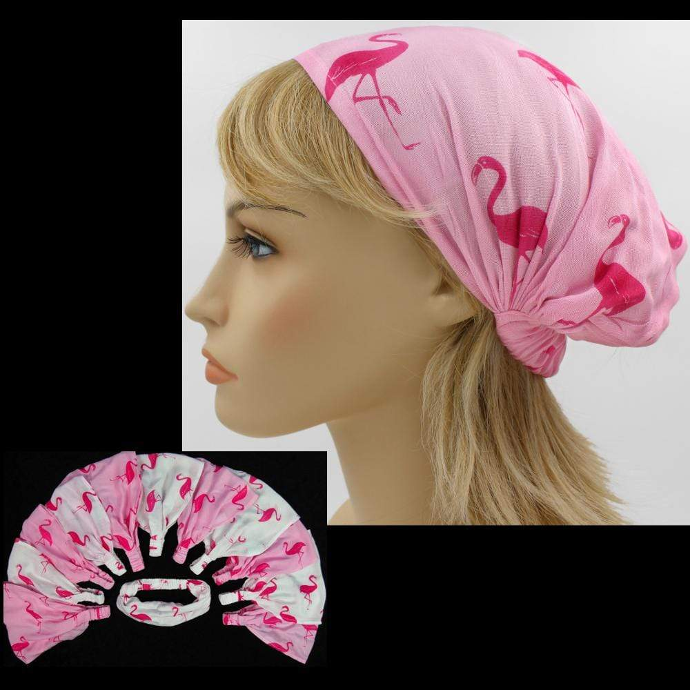 12 Flamingo Elastic Bandana-Headbands ($1.60 each)-Bags & Accessories-Peaceful People