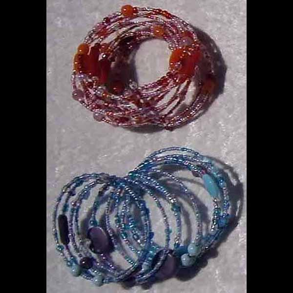 Art Glass Cuff Bracelets (DISPLAY PACKAGE)-Bracelets & Jewelry-Peaceful People