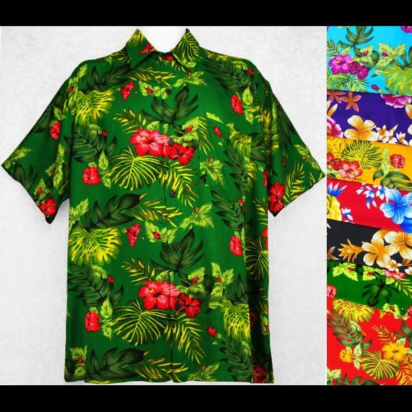 Poolside Flower Shirt-Shirts-Peaceful People