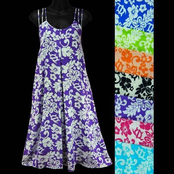 Floral Tri-String Strap Dress-Dresses-Peaceful People
