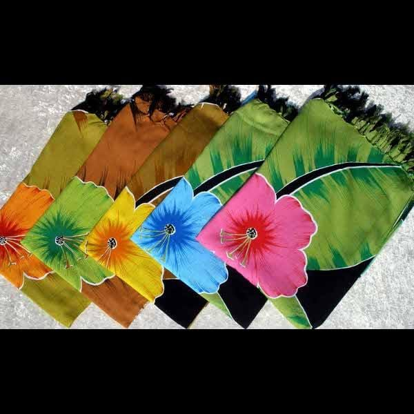 Hibiscus & Leaf Sarongs-Sarongs-Peaceful People