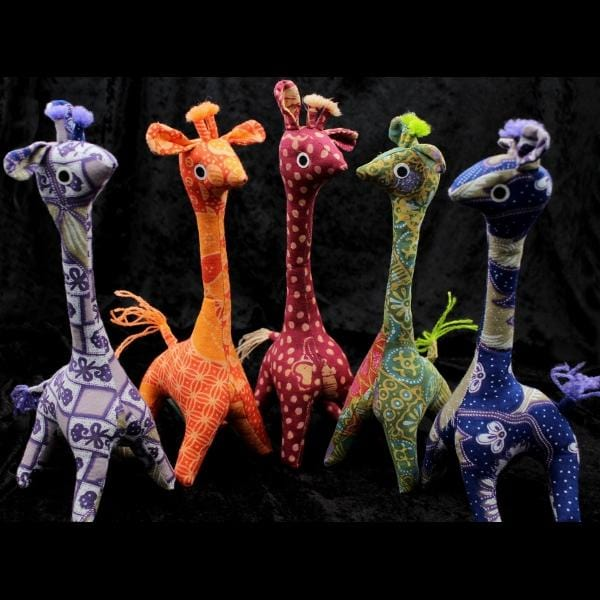 Antique Batik Giraffe-Handicrafts-Peaceful People