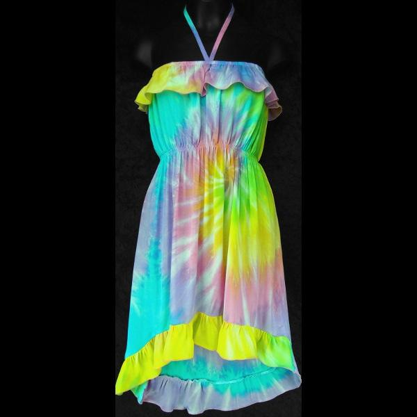Hannah's Soft Tie-Dye Dress (Ages: 4, 6, 8, 10)-Dresses-Peaceful People