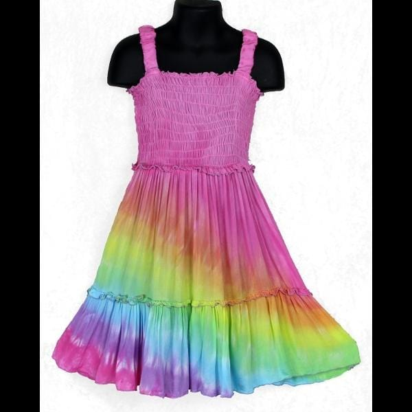 Angel Tie-Dye Dress for Girls (Ages: 4, 6, 8)-Children's Clothes-Peaceful People