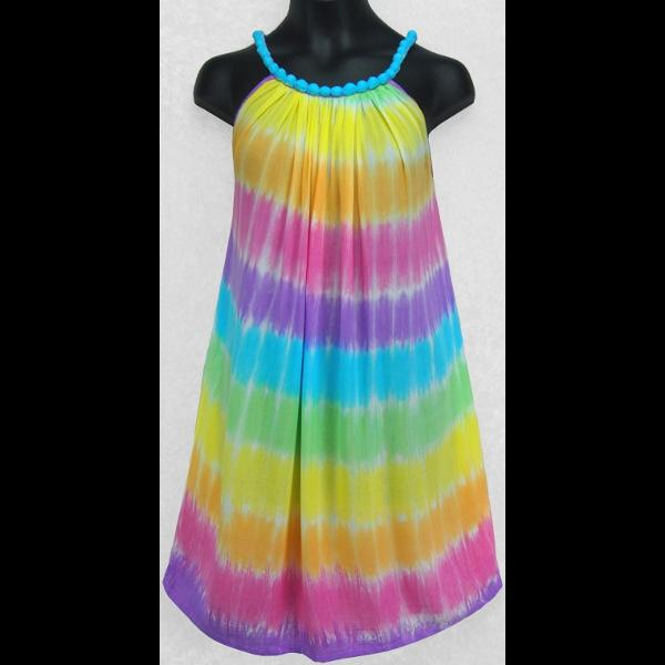 Megan's Soft Tie-Dye Dress for Girls (Ages: 4, 6, 8, 10)-Dresses-Peaceful People