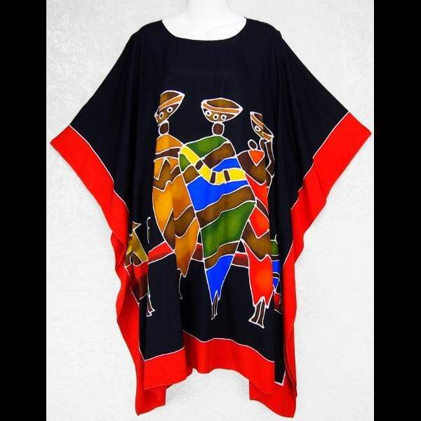 Hand-Painted African Poncho-Tops-Peaceful People