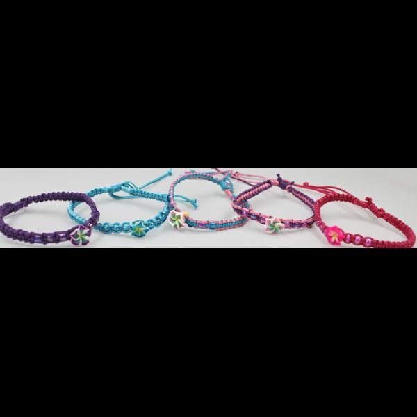 50 Hibiscus Bracelets ($0.36 each)-Bracelets & Jewelry-Peaceful People